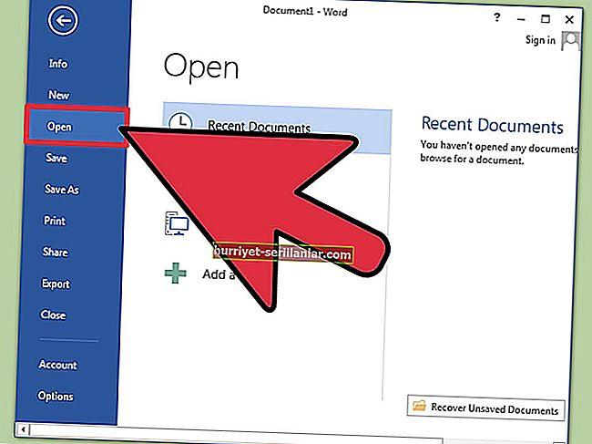 Excel bir belgeyi açmak yerine boş gösteriyorsa ne olur?
