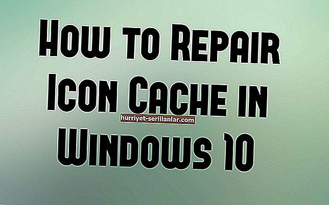 Windows 10'da bozuk simgeler nasıl yeniden oluşturulur?