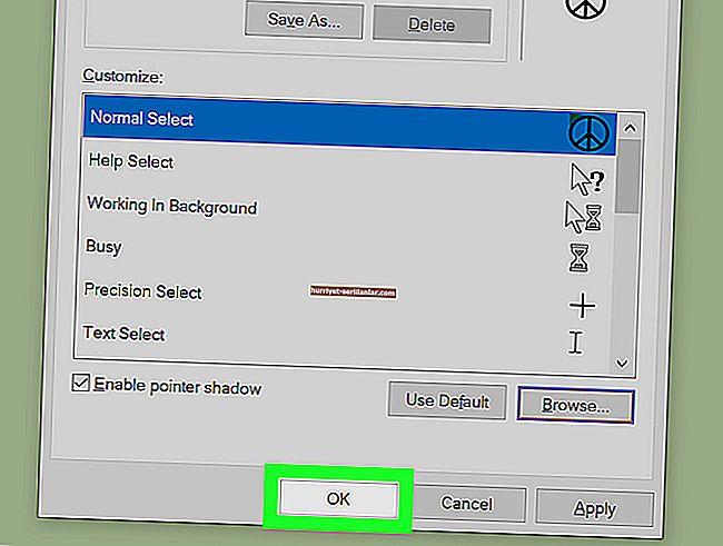 Windows 10'da bir fare işaretçisi nasıl daha kolay görünür hale getirilir?